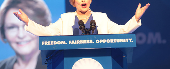Outgoing Democratic alliance leader Helen Zille during her final address as party head at the party's national congress in Port Elizabeth. Picture: Reinart Toerien/EWN
