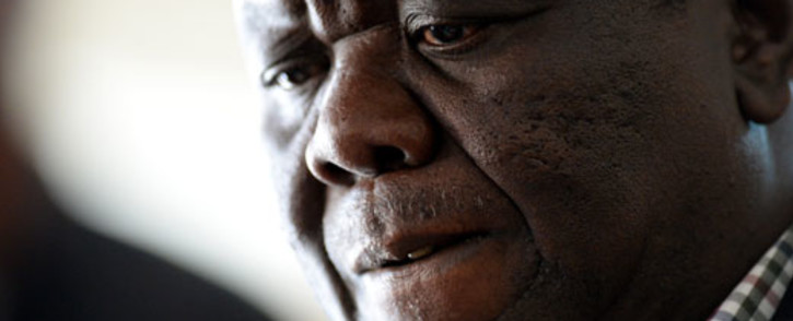 "Zimbabwean presidential hopeful Morgan Tsvangirai speaks in Harare on 1 August, 2013. He described the last election as a ""huge farce"". Picture: AFP."