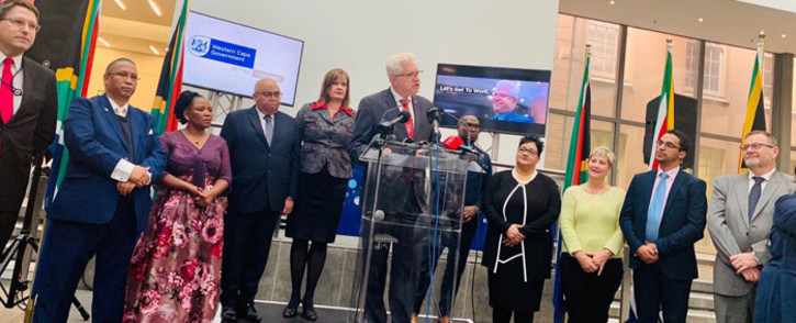 FILE: Western Cape Premier Alan Winde (centre) announces his Cabinet members in Cape Town on 23 May 2019. Picture: @alanwinde/Twitter