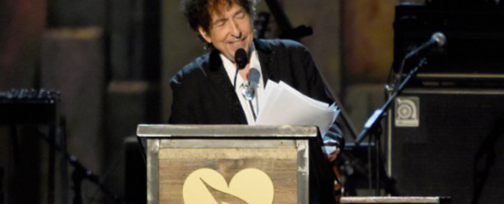 FILE: This file photo shows Bob Dylan onstage at the 25th anniversary MusiCares 2015 Person of The Year Gala honoring Bob Dylan at the Los Angeles Convention Center on 6 February 2015. Picture: AFP.