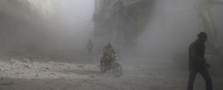 Several of people were killed near Damascus, mainly from Russian air strikes. Picture: AFP.