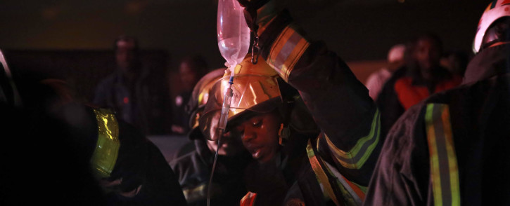 FILE: Firefigfhters who arrived at the scene of the fire, which had engulfed the entire structure, were told that two people were unaccounted for. Picture: Cindy Archillies/EWN
