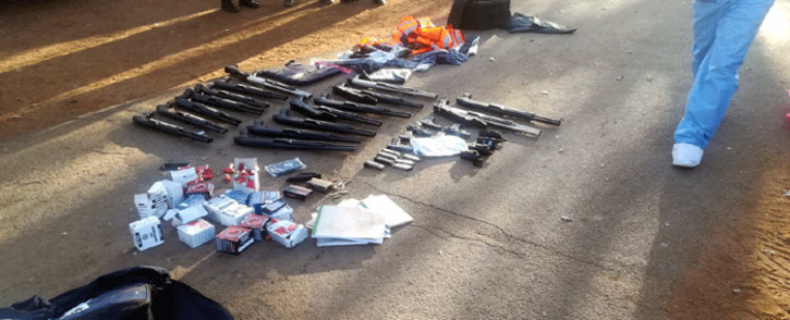 FILE: Several firearms were seized during a hostage incident at the International Pentecost Holiness Church in Zuurbekom on 11 July 2020. Picture: SAPS.