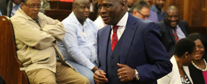 Group executive for corporate affairs at the SABC Hlaudi Motsoeneng. Picture: Christa Eybers/EWN.