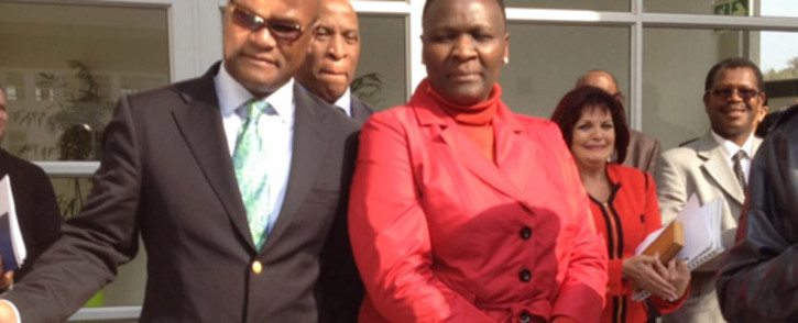 Police Minister Nathi Mthethwa and Commissioner Riah Phiyega at the opening of Polmed's new building in Pretoria. Picture: Barry Batemen/EWN
