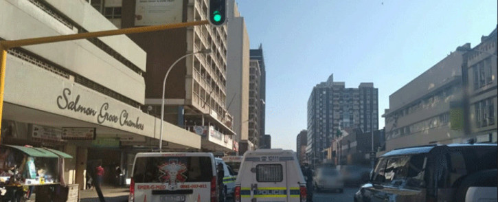 A hostage situation was reported at a building on Anton Lembede Street in the Durban CBD on 10 May 2021. Picture: Supplied.