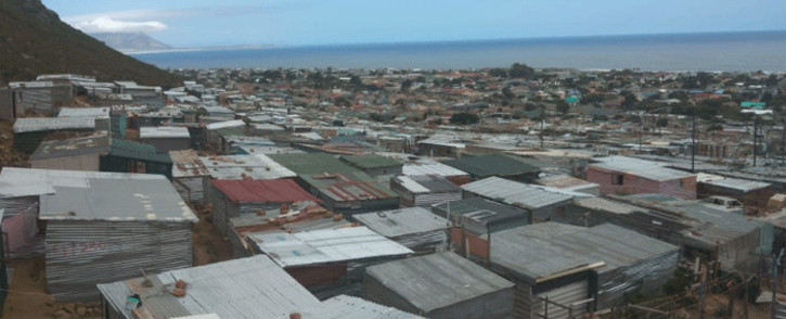 Residents of the Overhills informal settlement in Kleinmond, in the Western Cape, on 8 February 2021 said they had been without electricity for four years. Picture: Supplied.