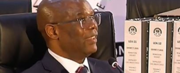 Screengrab of Werksmans Attorneys lawyer Sandile July at the Zondo commission of inquiry into state capture on 31 July 2020.