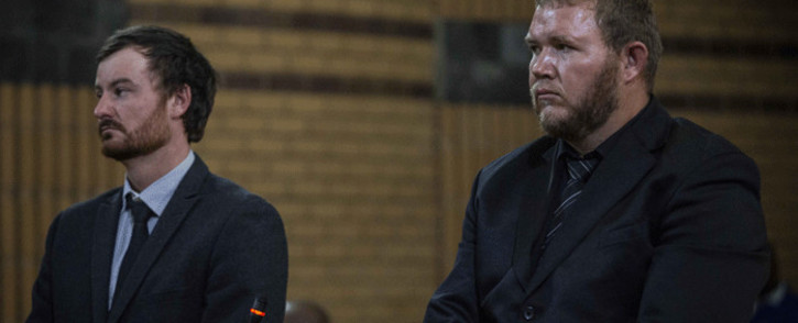Pieter Doorewaard and Phillip Schutte were found guilty of the murder of 16-year-old Mathlomola Moshoeu in Coligny at the North West High Court in Mahikeng. Other charges they were found guilty of were kidnapping, intimidation, theft and pointing of a firearm. Picture: Abigail Javier/EWN
