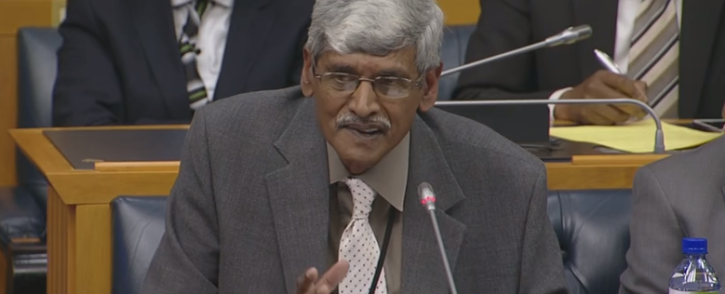 Krish Naidoo resigned from the SABC board in Parliament on 6 October 2016. Picture: Screengrab via Youtube