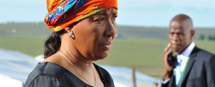Former president Nelson Mandela's eldest daughter Makaziwe Mandela arrives at her father's funeral in Qunu on 15 December. Picture: GCIS.