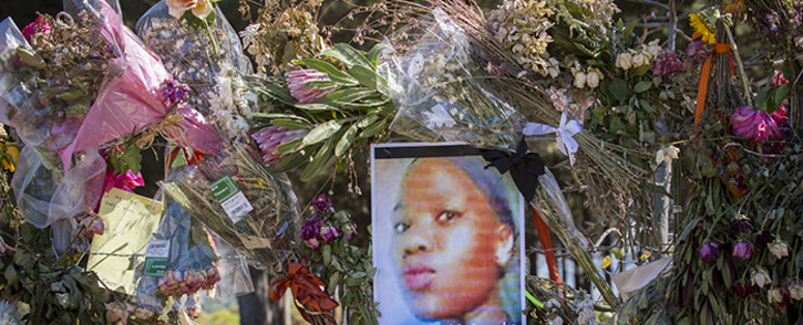 FILE. A photograph of Khayelitsha teenager Sinoxolo Mafevuka on the fence of the Lower Tokai Park after mourners left tributes to murdered girls on 15 March 2016. Picture: Aletta Harrison/EWN.