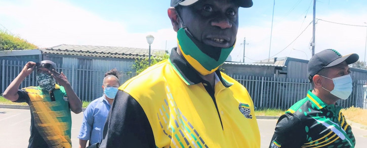 ANC treasurer-general Paul Mashatile campaigning in Cape Town on 7 October 2021. Picture: Lauren Isaacs/Eyewitness News
