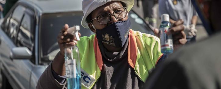 MEC for Community Safety Faith Mazibuko leads the O Kae Molao operation in Pretoria. Picture: Abigail Javier/EWN