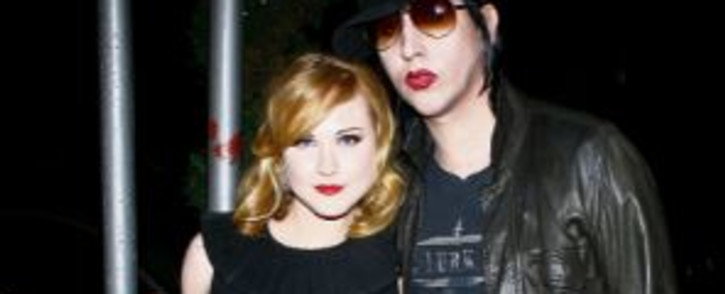FILE: Evan Rachel Wood and Marilyn Manson arrive for the after party for a special screening of 'Across The Universe' at Bette in September 2007 in New York City. Picture: Scott Wintrow/Getty Images/AFP