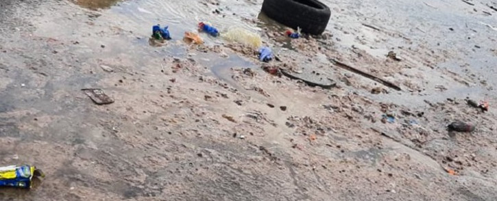 Freedom Park residents in Tafelsig have complained to the City of Cape Town about human waste running down the streets in the community. Picture: Supplied.