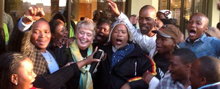 DA supporters congratulate newly appointed Mayor of Tlokwe Municipality (Potchefstroom) Annette Combrink. Picture: Facebook