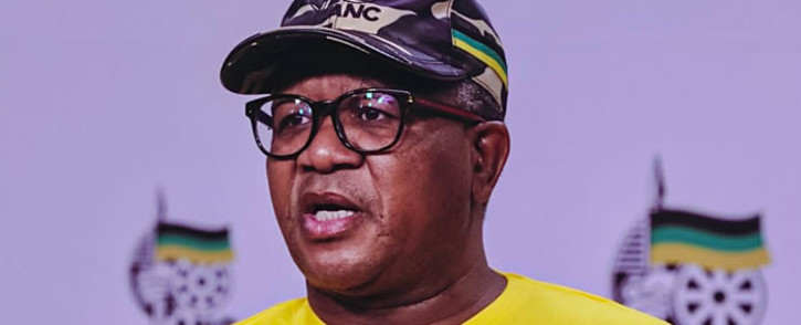 FILE: African National Congress (ANC) head of elections, Fikile Mbalula, briefs the media on 16 September 2021 on the party's plans for 2021 local government elections. Picture: @MbalulaFikile/Twitter