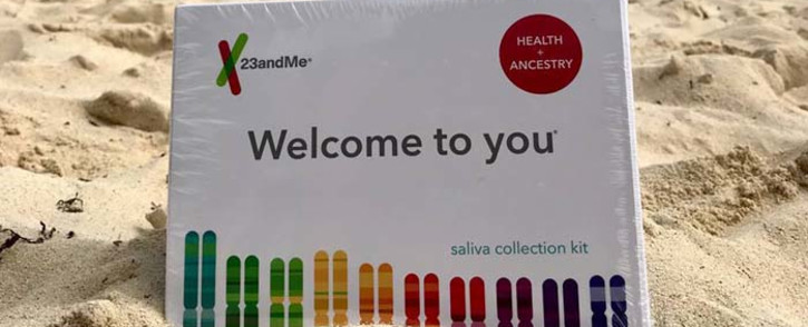 A 23andMe DNA home test kit. Picture: @23andMe/Facebook.com.fa