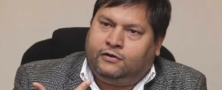 A video screengrab of Ajay Gupta. Picture: EWN