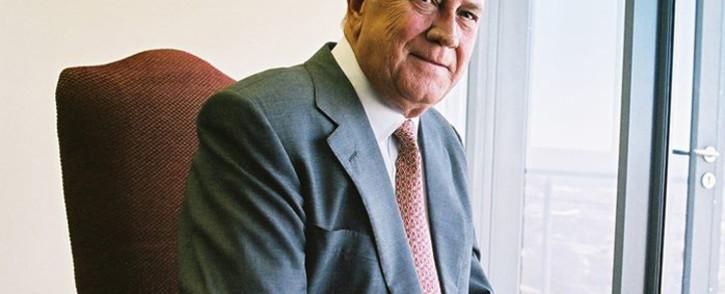 Former South African president FW de Klerk. Picture: FW de Klerk Foundation Facebook page.