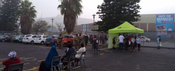 FILE: SANDF personnel help with screening and testing for the novel coronavirus at the Kasseslvlei Clinic in Bellville, Cape Town on 19 May 2020. Picture: Supplied