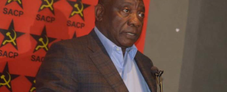 President Cyril Ramaphosa at the 60th anniversary of the SACP's 'African Communist Journal' on 21 October 2019 at Liliesleaf in Sandton. Picture: @SACP1921/Twitter