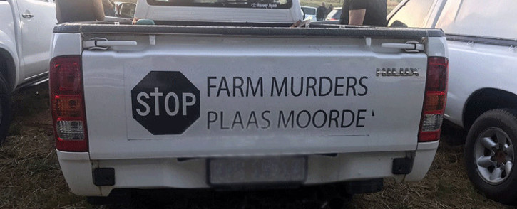 FILE: Farming communities protested against farm murders on 30 October 2017 under the banner 'genoeg is genoeg' (enough is enough). Picture: Shamiela Fisher/EWN