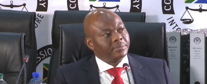 A YouTube screengrab of Edwin Sodi, the director of Blackhead Consulting, testifying before the state capture commission in Johannesburg on 7 August 2020.