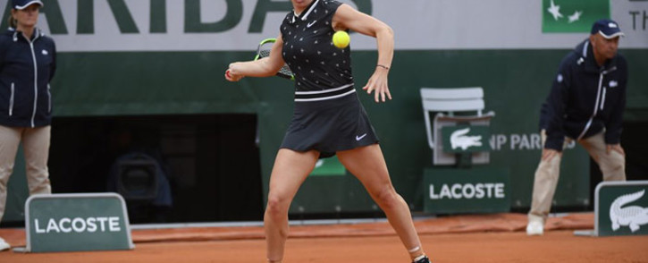 Simona Halep in action at the French open on 28 May 2019. Picture: @rolandgarros/Twitter