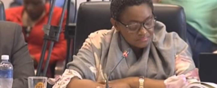 A screengrab of former social development minister Bathabile Dlamini.