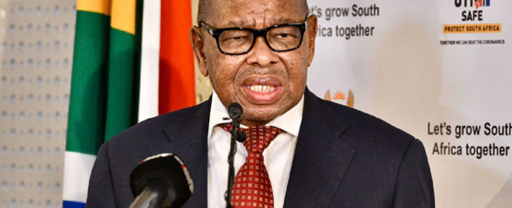 Minister of Higher Education, Science, and Innovation, Blade Nzimande, briefing the media on 30 June 2021. Picture: Boikhutso Ntsoko/Eyewitness News