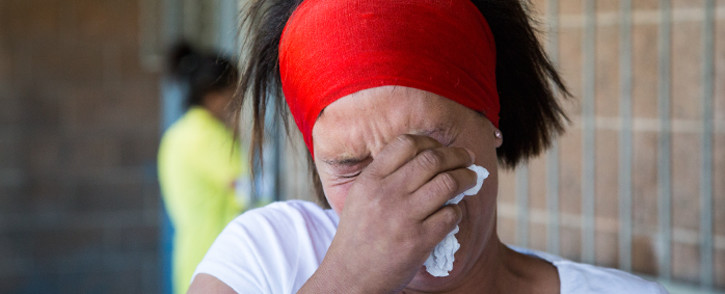 Barend Langley is survived by his partner Viroscar Josephs and their daughter Barencia Langley. Picture: Aletta Gardner/EWN