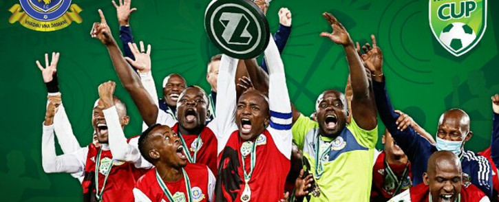TTM beat Chippa United 1-0 in Bloemfontein on Saturday and lift the South African FA Cup. Picture: Twitter/@TTM_Original