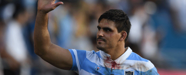 In this file photo taken on October 09, 2019, Argentina's flanker Pablo Matera wave after winning the Japan 2019 Rugby World Cup Pool C match between Argentina and the United States at the Kumagaya Rugby Stadium in Kumagaya. Picture: AFP.