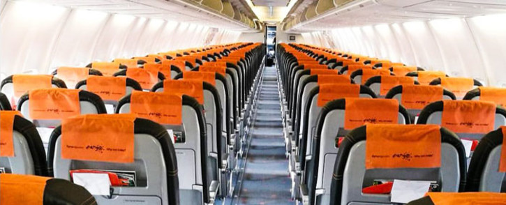 FILE: The interior of a Mango Airlines plane. Picture: @FlyMangoSA/Facebook