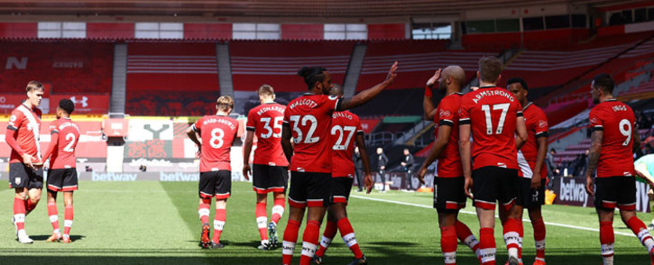 Southampton players celebrate their win over Burnley in their English Premier League match on 4 April 2021. Picture: @SouthamptonFC/Twitter