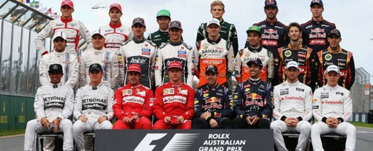 The 2014 Formula One drivers. Picture: Facebook.com
