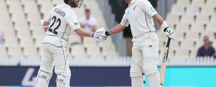 New Zealand's Kane Williamson and Ross Taylor. Picture: @ICC/Twitter.