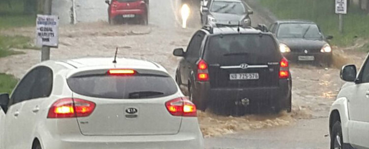 FILE: Flooding on the N3 highway in Bedfordview. Picture: Supplied.
