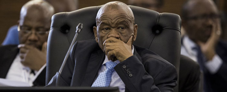 Lesotho PM Thomas Motsoahae Thabane (C) looks on during proceedings at the closing ceremony of the 37th Southern African Development Community (SADC) Summit of Heads of State and Government at The OR Tambo Building in Pretoria on 20 August, 2017. Picture: AFP