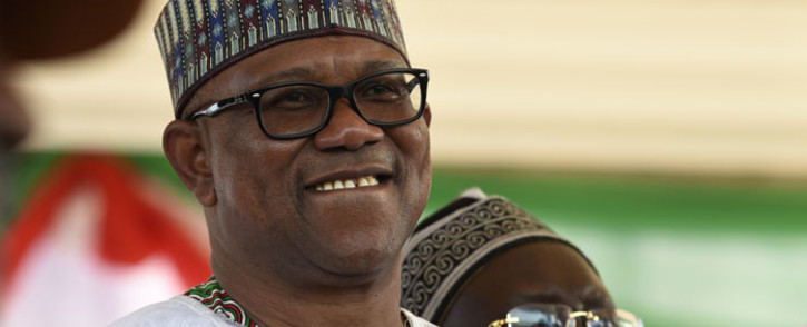 Vice Presidential candidate of the opposition Peoples Democratic Party (PDP) Peter Obi smiles during a campaign rally in Ilorin, north-central Nigeria, on 5 December 2018. Picture: AFP