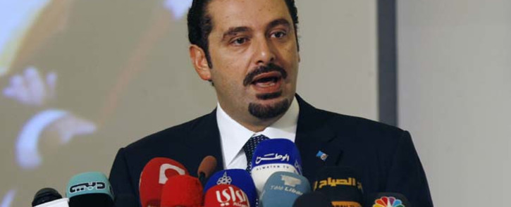 "FILE: Former Lebanese Prime Minister Saad al-Hariri gives a speech during the opening ceremony of the second ""Kuwait Financial Forum"" in Kuwait City on 31 October 2010. Picture: AFP"