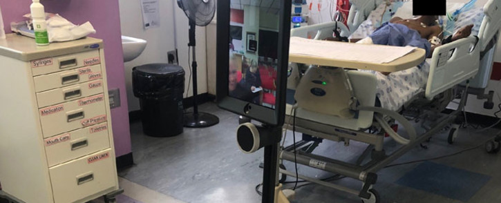 'Quinton' the robot is being used at the Tygerberg Hospital to reduce the risk of health workers being exposed to COVID-19. Picture: Supplied
