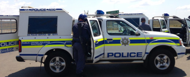 FILE: Police at the scene of a crime. Picture: Sebabatso Mosamo/EWN.