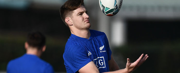 FILE: New Zealand's fly-half Jordie Barrett takes part in the Captain's Run at Tatsuminomori Seaside Park in Tokyo on 31 October 2019. Picture: AFP
