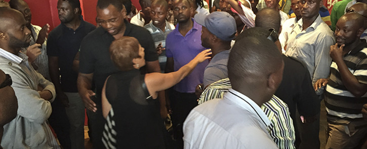 Uber drivers invaded the company's Cape Town offices on Wednesday 6 April 2016 over plans to decrease prices. Picture: Aletta Harrison/EWN
