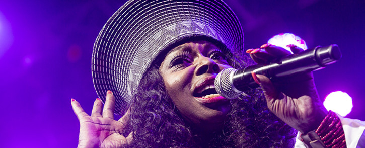 Grammy nominated singer Angie Stone performs at the CTIJF2016. Picture: Thomas Holder/EWN