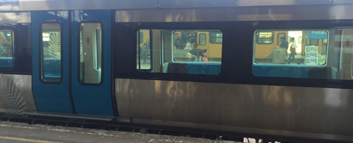 A new fleet of Metrorail trains has been unveiled at Pretoria station. Picture: Kgothatso Mogale/EWN.