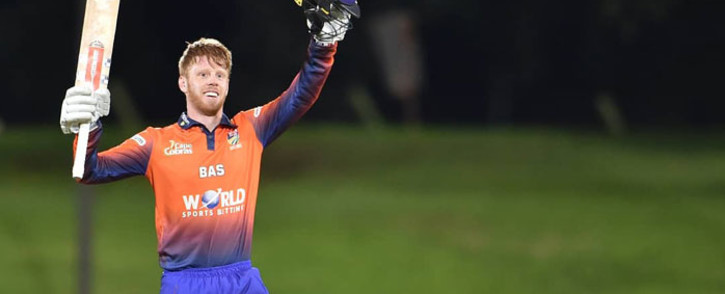 FILE: Cape Cobras batsman Kyle Verreynne celebrates his hundred during the One-Day Cup match against the Knights on 19 February 2019. Picture: @CobrasCricket/Twitter